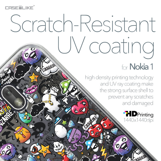 Nokia 1 case Graffiti 2703 with UV-Coating Scratch-Resistant Case | CASEiLIKE.com