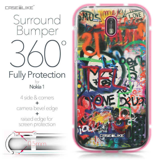 Nokia 1 case Graffiti 2721 Bumper Case Protection | CASEiLIKE.com
