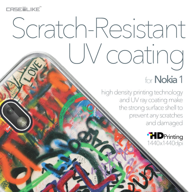 Nokia 1 case Graffiti 2721 with UV-Coating Scratch-Resistant Case | CASEiLIKE.com