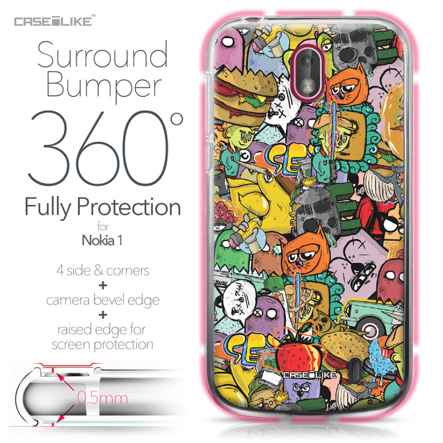 Nokia 1 case Graffiti 2731 Bumper Case Protection | CASEiLIKE.com