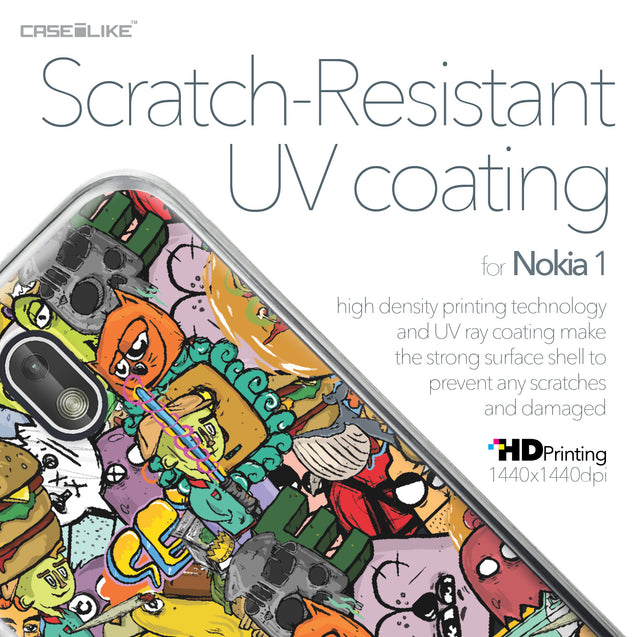 Nokia 1 case Graffiti 2731 with UV-Coating Scratch-Resistant Case | CASEiLIKE.com