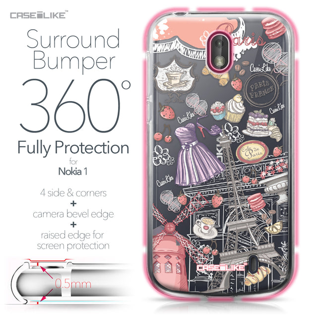 Nokia 1 case Paris Holiday 3907 Bumper Case Protection | CASEiLIKE.com
