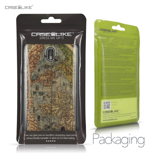 Nokia 1 case World Map Vintage 4608 Retail Packaging | CASEiLIKE.com