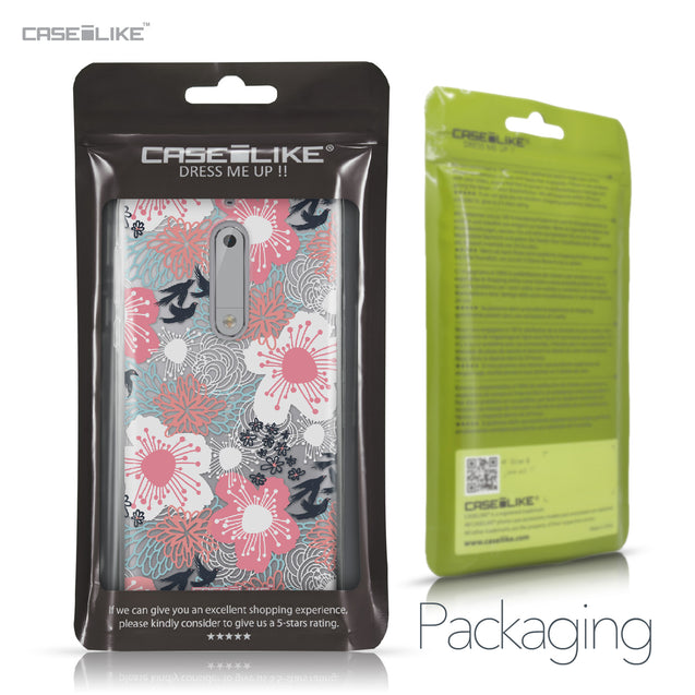 Nokia 5 case Japanese Floral 2255 Retail Packaging | CASEiLIKE.com
