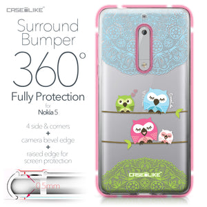 Nokia 5 case Owl Graphic Design 3318 Bumper Case Protection | CASEiLIKE.com