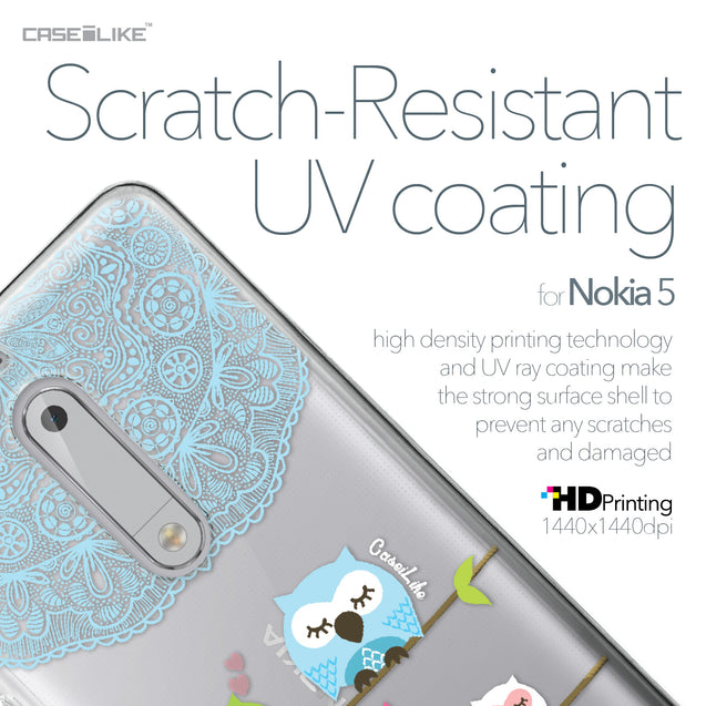 Nokia 5 case Owl Graphic Design 3318 with UV-Coating Scratch-Resistant Case | CASEiLIKE.com