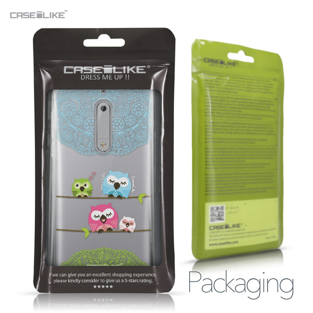 Nokia 5 case Owl Graphic Design 3318 Retail Packaging | CASEiLIKE.com