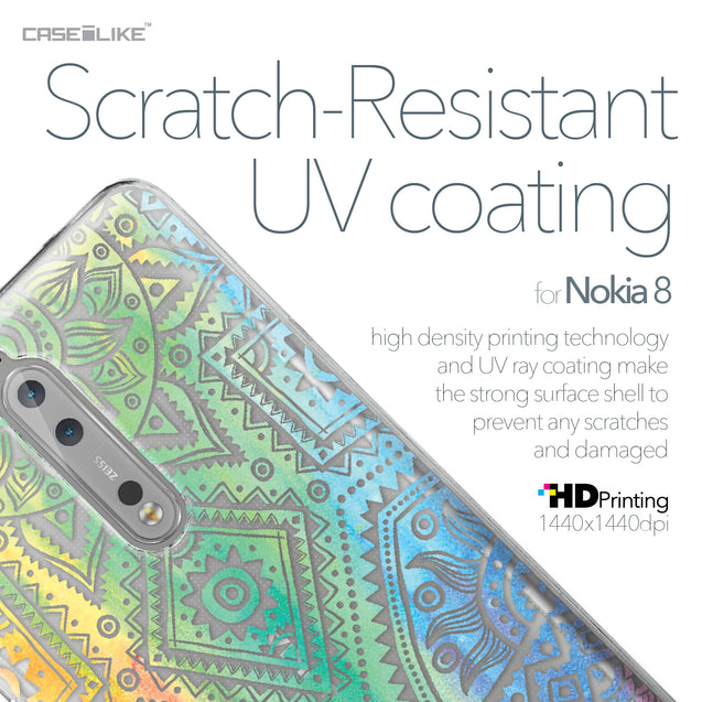 Nokia 8 case Indian Line Art 2064 with UV-Coating Scratch-Resistant Case | CASEiLIKE.com