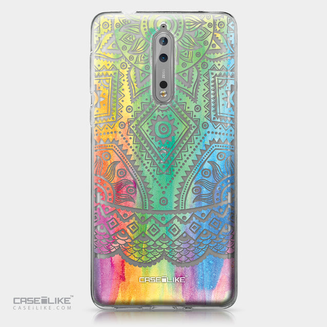 Nokia 8 case Indian Line Art 2064 | CASEiLIKE.com