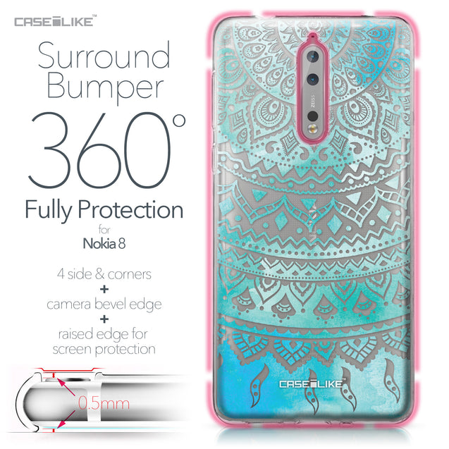 Nokia 8 case Indian Line Art 2066 Bumper Case Protection | CASEiLIKE.com