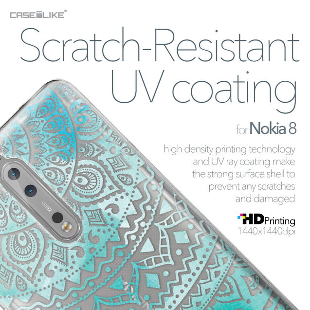 Nokia 8 case Indian Line Art 2066 with UV-Coating Scratch-Resistant Case | CASEiLIKE.com
