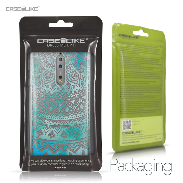 Nokia 8 case Indian Line Art 2066 Retail Packaging | CASEiLIKE.com