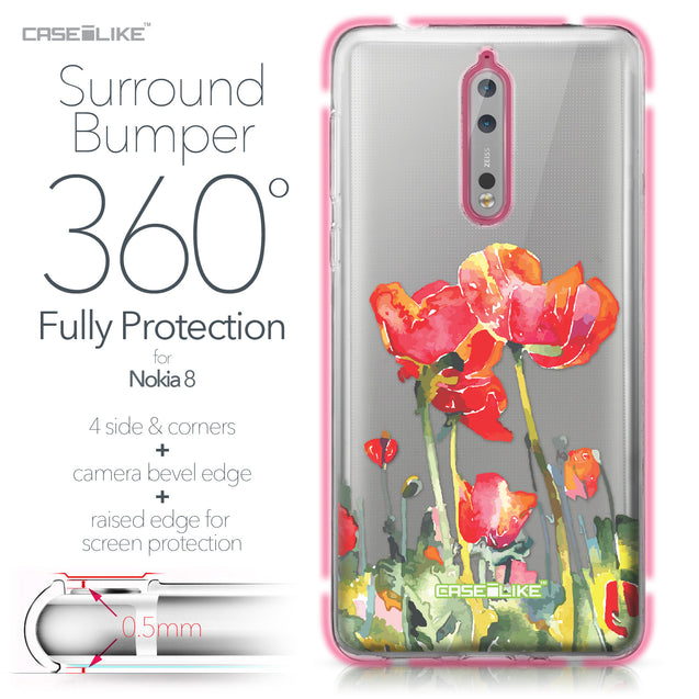 Nokia 8 case Watercolor Floral 2230 Bumper Case Protection | CASEiLIKE.com