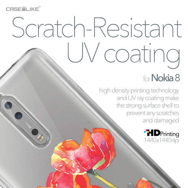 Nokia 8 case Watercolor Floral 2230 with UV-Coating Scratch-Resistant Case | CASEiLIKE.com