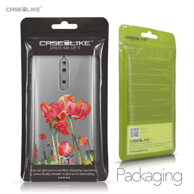 Nokia 8 case Watercolor Floral 2230 Retail Packaging | CASEiLIKE.com