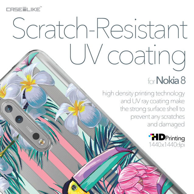Nokia 8 case Tropical Floral 2240 with UV-Coating Scratch-Resistant Case | CASEiLIKE.com