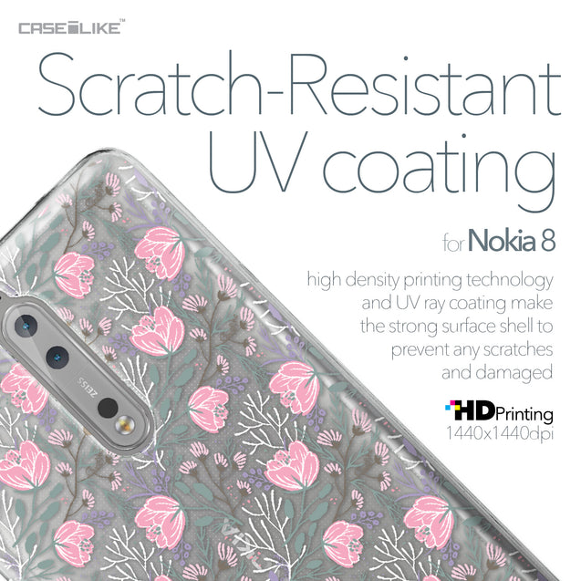 Nokia 8 case Flowers Herbs 2246 with UV-Coating Scratch-Resistant Case | CASEiLIKE.com