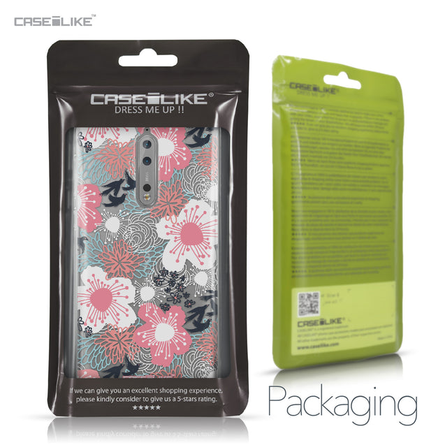 Nokia 8 case Japanese Floral 2255 Retail Packaging | CASEiLIKE.com