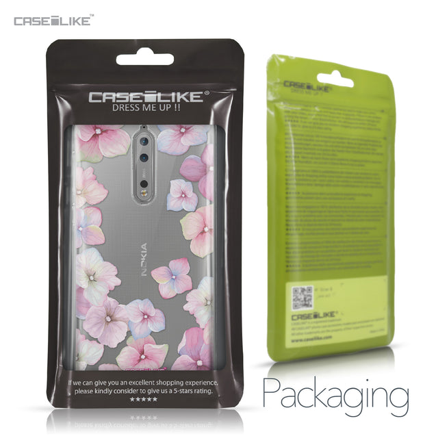 Nokia 8 case Hydrangea 2257 Retail Packaging | CASEiLIKE.com