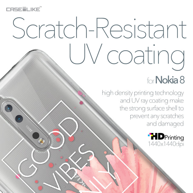 Nokia 8 case Gerbera 2258 with UV-Coating Scratch-Resistant Case | CASEiLIKE.com