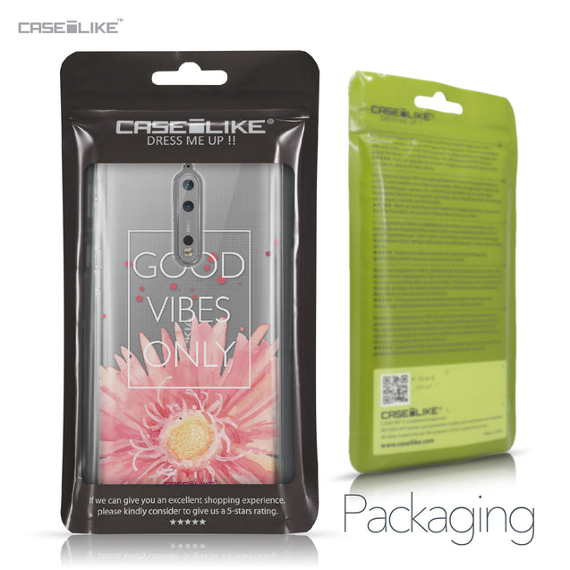 Nokia 8 case Gerbera 2258 Retail Packaging | CASEiLIKE.com