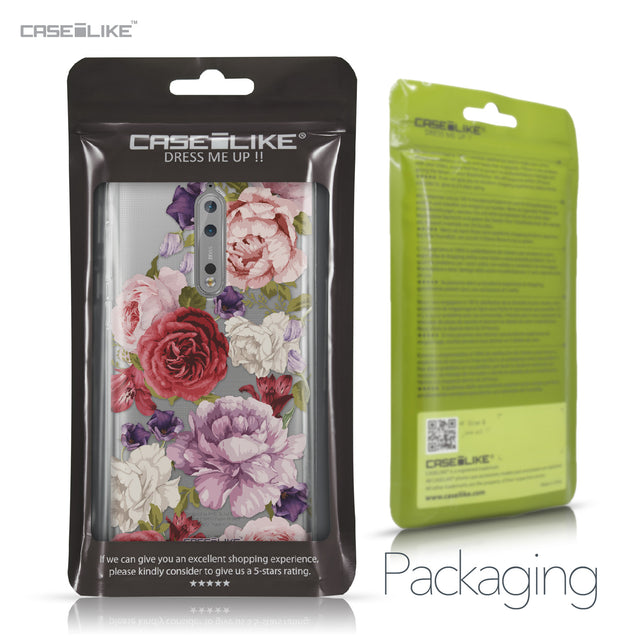 Nokia 8 case Mixed Roses 2259 Retail Packaging | CASEiLIKE.com