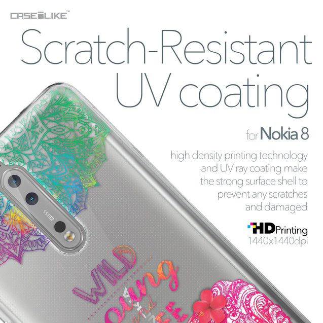 Nokia 8 case Mandala Art 2302 with UV-Coating Scratch-Resistant Case | CASEiLIKE.com