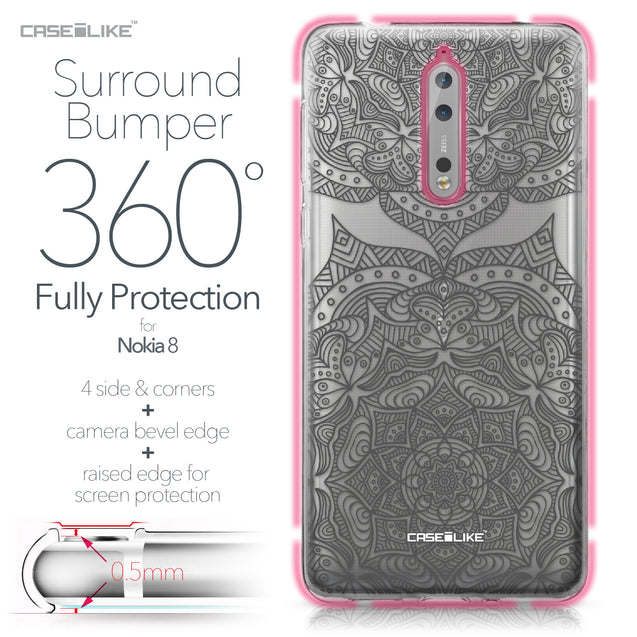 Nokia 8 case Mandala Art 2304 Bumper Case Protection | CASEiLIKE.com