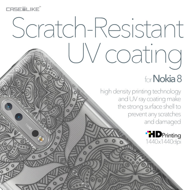 Nokia 8 case Mandala Art 2304 with UV-Coating Scratch-Resistant Case | CASEiLIKE.com