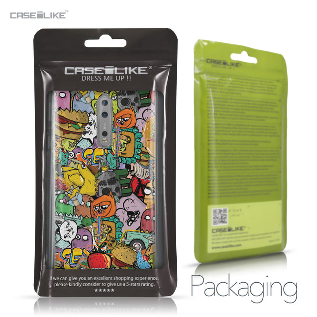 Nokia 8 case Graffiti 2731 Retail Packaging | CASEiLIKE.com