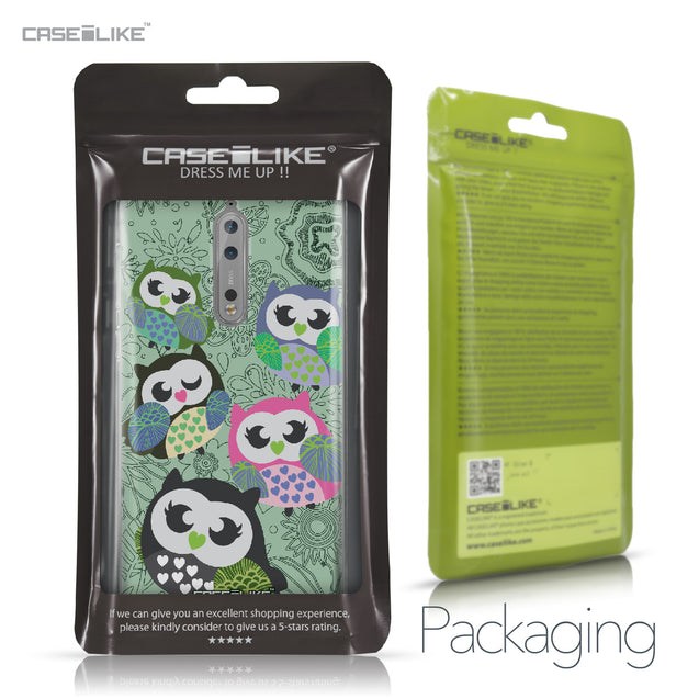 Nokia 8 case Owl Graphic Design 3313 Retail Packaging | CASEiLIKE.com
