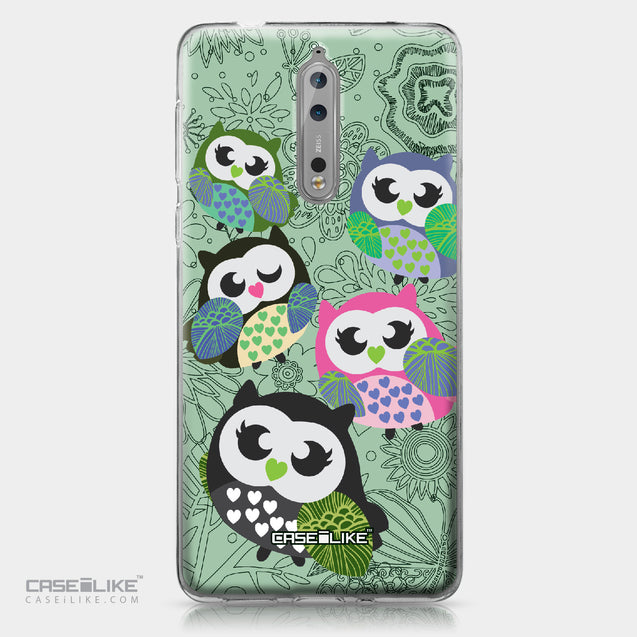 Nokia 8 case Owl Graphic Design 3313 | CASEiLIKE.com