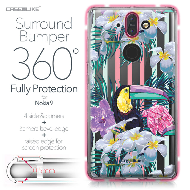 Nokia 9 case Tropical Floral 2240 Bumper Case Protection | CASEiLIKE.com
