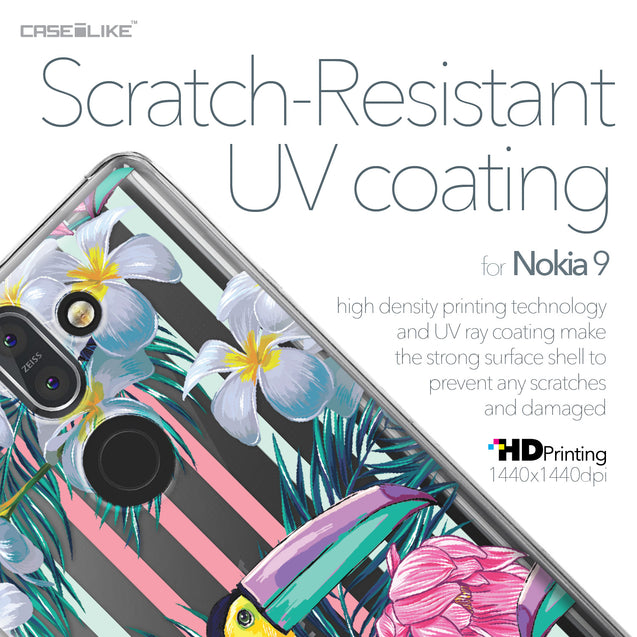 Nokia 9 case Tropical Floral 2240 with UV-Coating Scratch-Resistant Case | CASEiLIKE.com