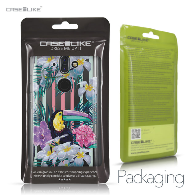 Nokia 9 case Tropical Floral 2240 Retail Packaging | CASEiLIKE.com