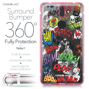 Nokia 9 case Comic Captions 2914 Bumper Case Protection | CASEiLIKE.com