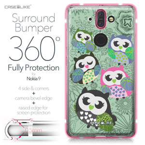 Nokia 9 case Owl Graphic Design 3313 Bumper Case Protection | CASEiLIKE.com
