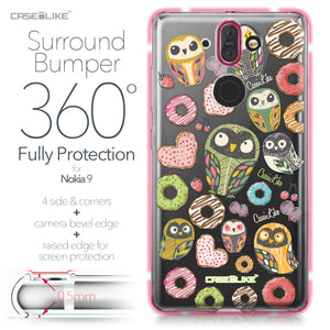 Nokia 9 case Owl Graphic Design 3315 Bumper Case Protection | CASEiLIKE.com