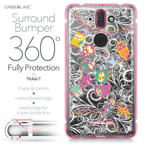 Nokia 9 case Owl Graphic Design 3316 Bumper Case Protection | CASEiLIKE.com