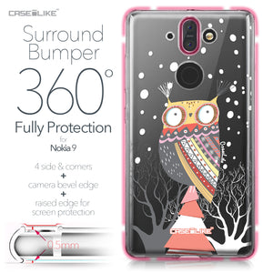 Nokia 9 case Owl Graphic Design 3317 Bumper Case Protection | CASEiLIKE.com