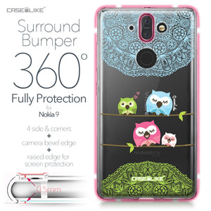 Nokia 9 case Owl Graphic Design 3318 Bumper Case Protection | CASEiLIKE.com