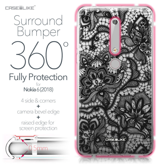 Nokia 6 (2018) case Lace 2037 Bumper Case Protection | CASEiLIKE.com