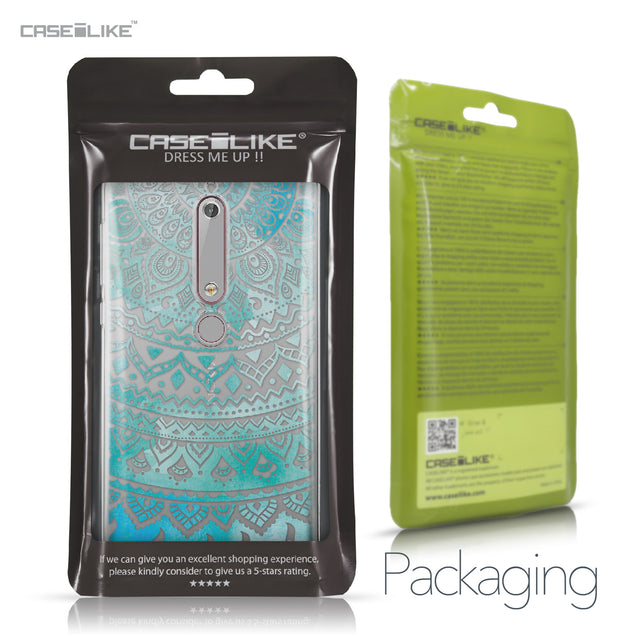 Nokia 6 (2018) case Indian Line Art 2066 Retail Packaging | CASEiLIKE.com
