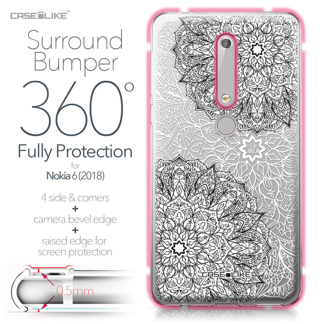 Nokia 6 (2018) case Mandala Art 2093 Bumper Case Protection | CASEiLIKE.com