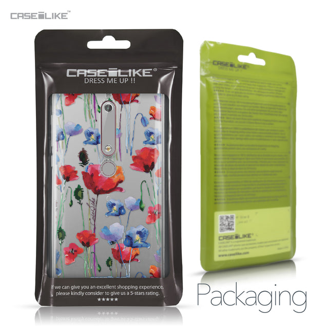 Nokia 6 (2018) case Watercolor Floral 2234 Retail Packaging | CASEiLIKE.com