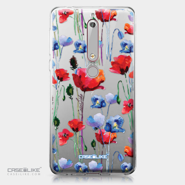 Nokia 6 (2018) case Watercolor Floral 2234 | CASEiLIKE.com