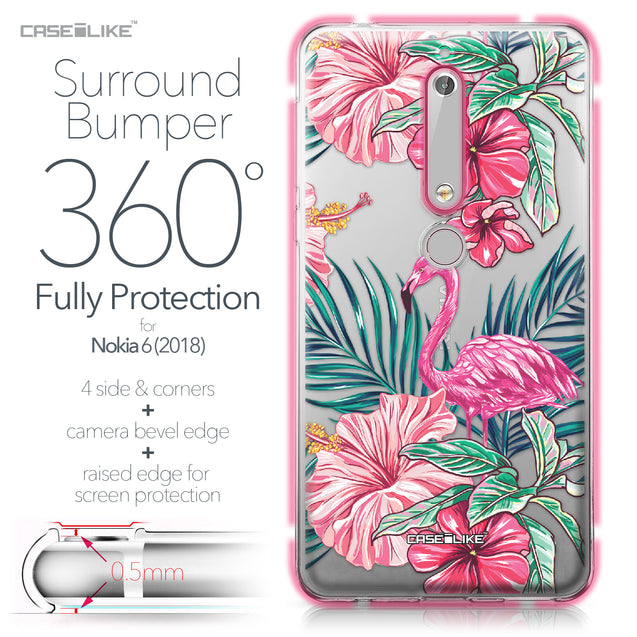Nokia 6 (2018) case Tropical Flamingo 2239 Bumper Case Protection | CASEiLIKE.com
