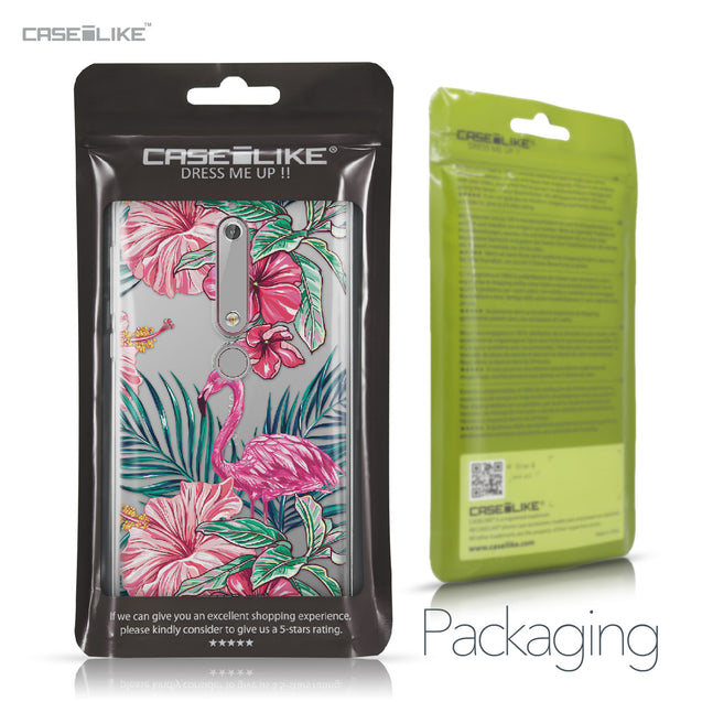 Nokia 6 (2018) case Tropical Flamingo 2239 Retail Packaging | CASEiLIKE.com