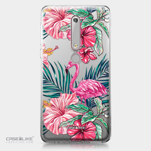 Nokia 6 (2018) case Tropical Flamingo 2239 | CASEiLIKE.com