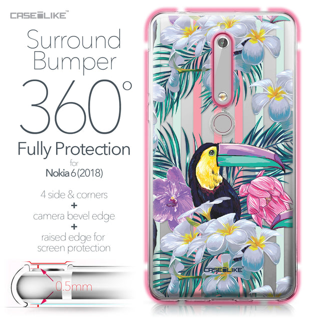 Nokia 6 (2018) case Tropical Floral 2240 Bumper Case Protection | CASEiLIKE.com